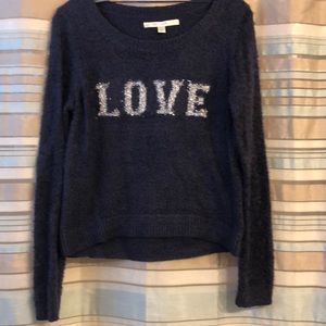 Lauren Conrad, super soft, navy blue sweater, S